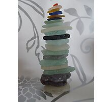 Seaglass Stack Photographic Print