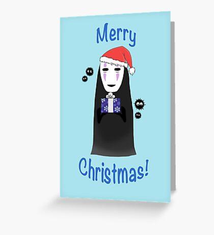 No Face Christmas! Greeting Card