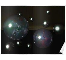 Celestial Marbles Poster