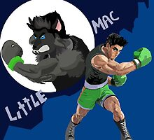 little mac and his werewolf form by richard16