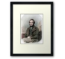 Young Darwin Framed Print