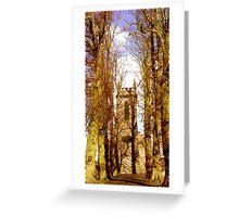 the old church lane ... Greeting Card