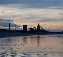 Redcar Steelworks from Coatham beach by dougie1