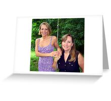 mother and daughter Greeting Card
