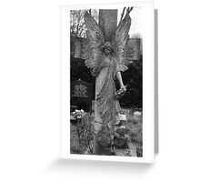 Tall grave angel Greeting Card