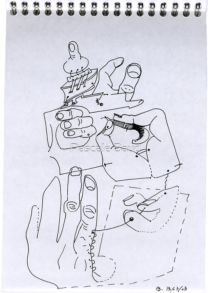 Petits Dessins Debiles - Small Weak Drawings#03 by Pascale Baud