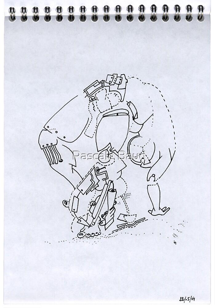 Petits Dessins Debiles - Small Weak Drawings#07 by Pascale Baud