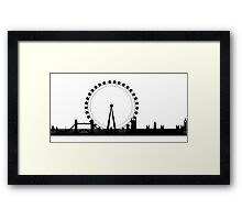 London Eye Panoramic Framed Print