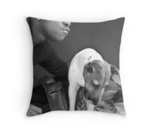 Evan and Mr. Throw Pillow