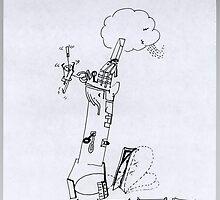 Petits Dessins Debiles - Small Weak Drawings#14 by Pascale Baud