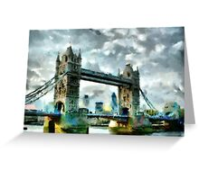 Tower Bridge, London - all products Greeting Card