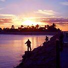 SOUTH JETTY SUNSET by TomBaumker