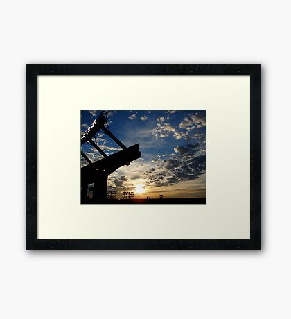 Stadium sunset Framed Print