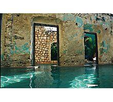 doors in the swimmingpool Photographic Print
