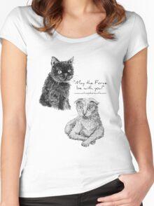Darth and Luke Women's Fitted Scoop T-Shirt