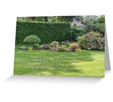 Janet's Garden Greeting Card