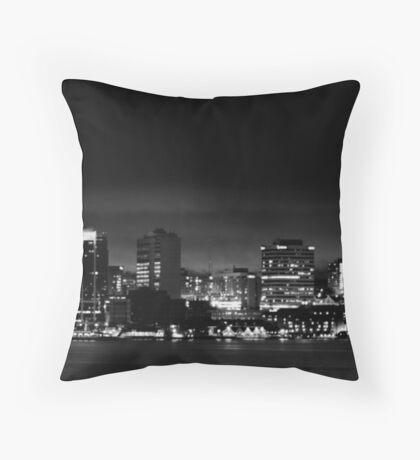 Halifax at Night Throw Pillow