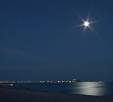 Moon Over Penasco by allen edwards