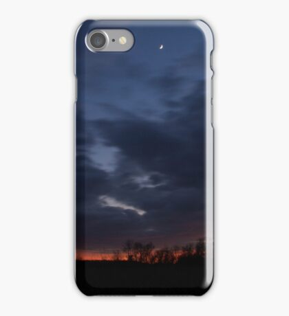Sunsets in lonely fields iPhone Case/Skin