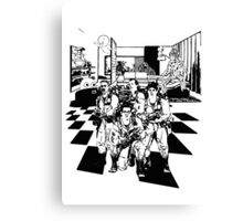 Busting Ghosts (Redada Fantasma) Canvas Print
