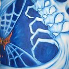 Spiderskull vs Butterfly by Timmy Pottle