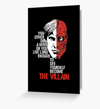 Harvey Dent - Two face Greeting Card