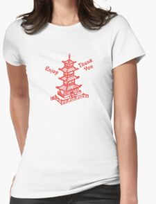 Chinese Food Take Out Womens Fitted T-Shirt
