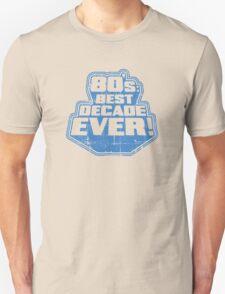 80's Best Decade Ever! Retro Distressed Logo T-Shirt