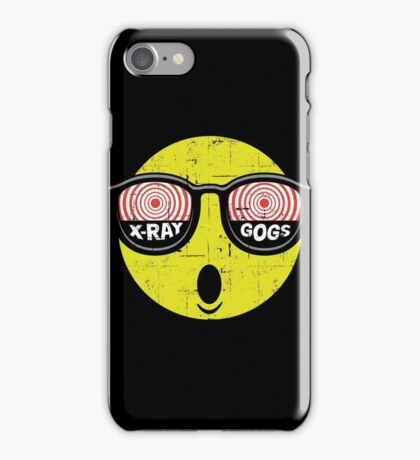 Smiley Face X-Ray Vision Goggles Distress Vintage Design iPhone Case/Skin