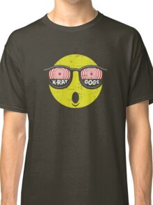 Smiley Face X-Ray Vision Goggles Distress Vintage Design Classic T-Shirt