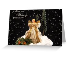 Blessings From Above Greeting Card