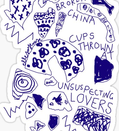 'Broken Love China' Sticker
