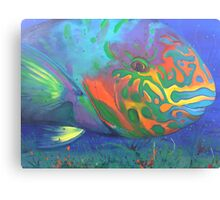 Parrot fish Canvas Print