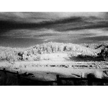 big hill little fence.........daniland Photographic Print