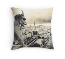Looks Like Bad Weather: From the Notre Dame, Paris Throw Pillow