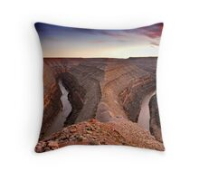 San Juan River Goosenecks Throw Pillow