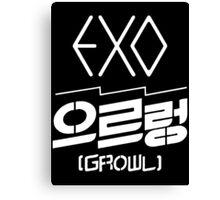 EXO Growl logo Canvas Print