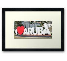 I love Aruba - One happy Island Framed Print