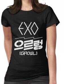 EXO Growl logo Womens Fitted T-Shirt
