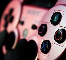 Pink DualShock 3 Photographic Print by Cassie Gotto