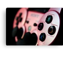 Pink DualShock 3 Photographic Print Canvas Print