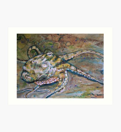 Cryptic contortions Art Print