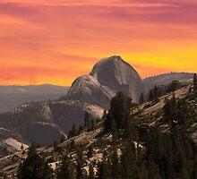 half dome at sunset by Randy & Kay Branham