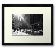 New York Winter Framed Print