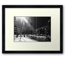 New York Winter Framed Print
