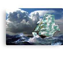 A Cloud of Sails in Rough Seas - all products Canvas Print