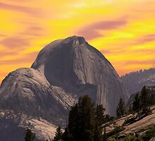 Half Dome from Tioga Rd by Randy Branham