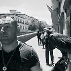 Man & Eagle by bouche