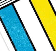 Mondrian: Greeting #2 Sticker