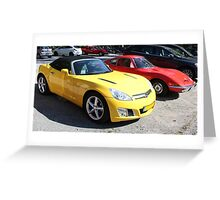 Opel GT Classic Sports Cars Greeting Card